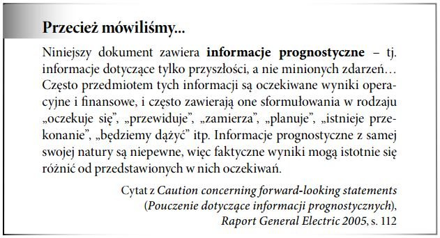 Informacje prognostyczne