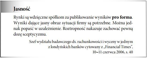 Sprawozdanie finansowe pro forma