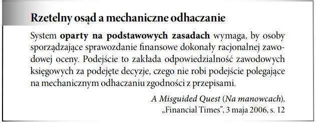 Standardy rachunkowości oparte na podstawowych zasadach rachunkowości